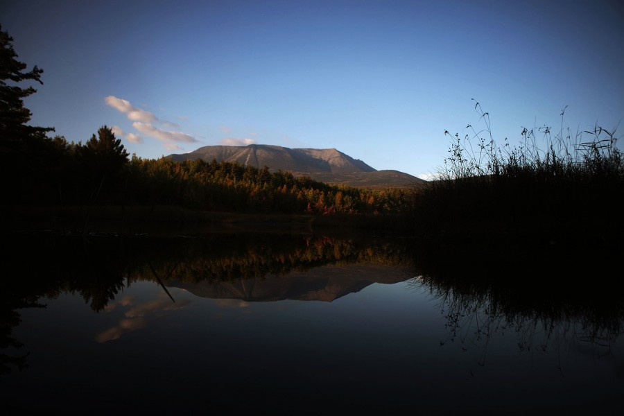 Mount Katahdin in Maine marks the end of the appalachian trail