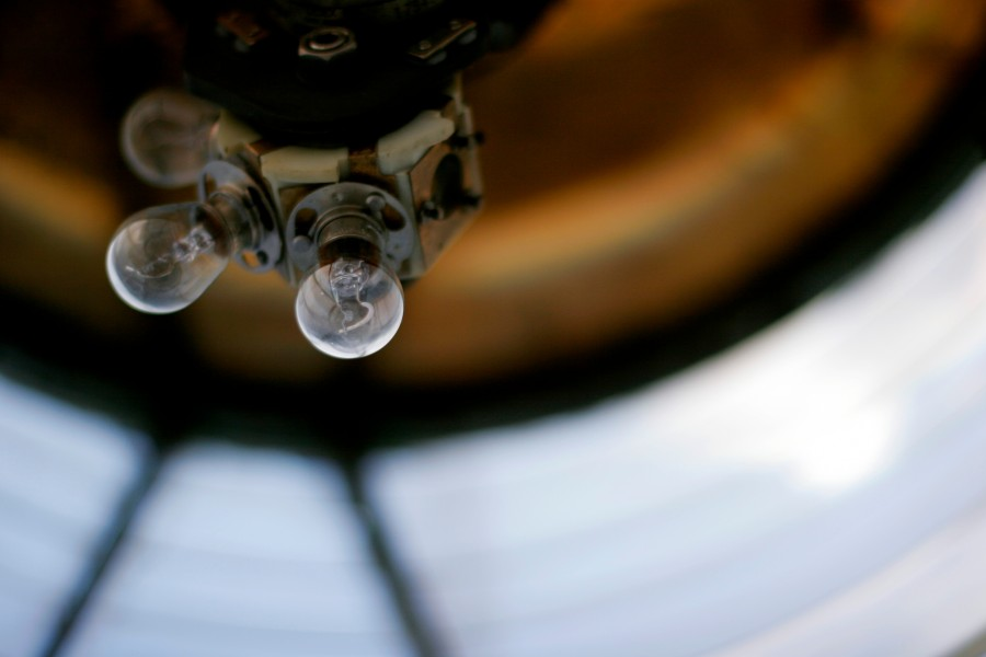 the lightbulbs inside the lighthouse on Cape Horn, Chile