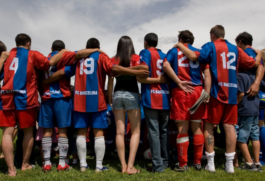 After winning the Copa Tecate, a tournament for Hispanic adult soccer players, the Soles gather around for a team picture with their families at the USS Bullhead Memorial Park Sunday afternoon. The Soles will travel to Las Angeles for regionals.