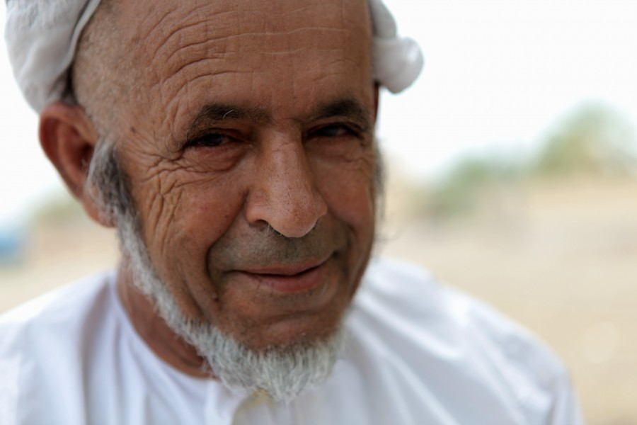 An Omani man in his village.